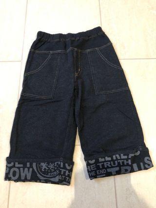 Japanese brand size 120 stretchable black soft three quarter jean Bermuda #ENDGAMEyourEXCESS