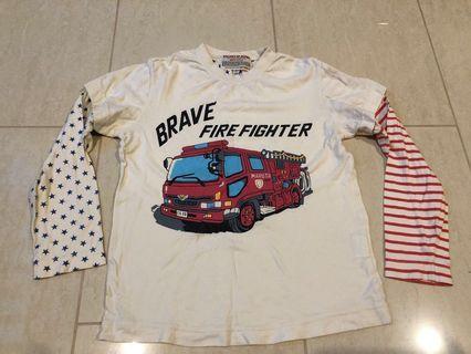 Japanese brand size 130 Fire engine Long sleeve T-shirt #ENDGAMEyourEXCESS