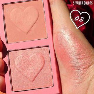 Sivana matte& shimmer duo blush