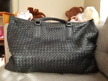 Bottega Veneta Black woven convertible handle bag