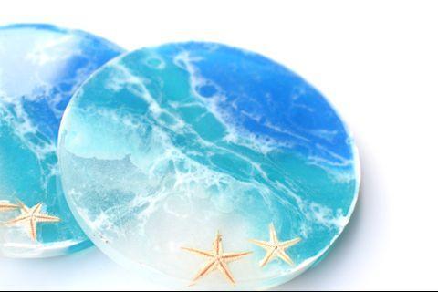 Set Of 4 Sea Escape Resin Coasters