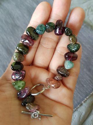 Juicy tourmaline nuggets bracelet