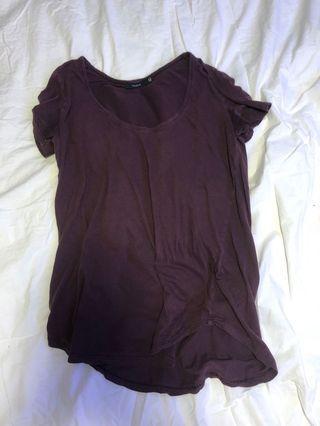 Aritzia burgundy t shirt