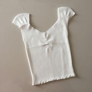 white knit croptop