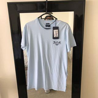 Armani jeans blue logo T-shirt