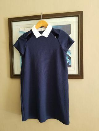 Zara blue collared dress