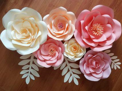 Giant Paper Flowers Set *Ready made*