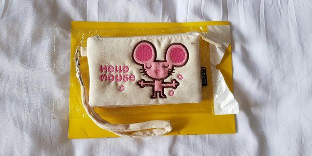 Wristlet Pouch w/ Embroidery