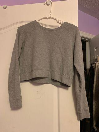 Forever 21 grey crop sweatshirt