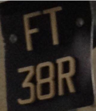 Motorcycle Plate FT38R for sale