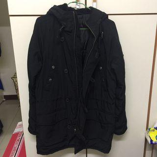 🚚 中長版黑色厚外套