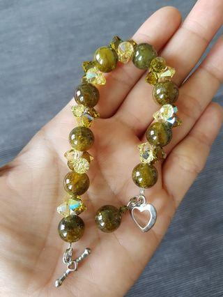 Juicy green tourmaline bracelet
