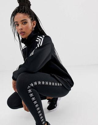 🚚 Adidas Originals Trefoil Logo Print Legging in Black (Women's)