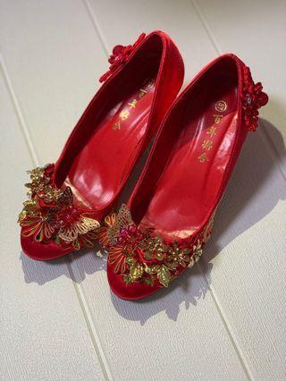 婚後物資 中式褂鞋 褂鞋 結婚 婚禮 size37