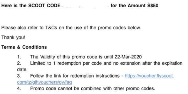 🚚 Scoot Code worth $50