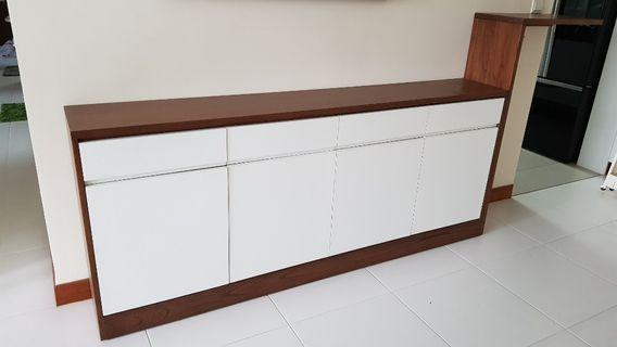 Solid wood side console