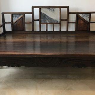 Opium bed (elm, extendable)