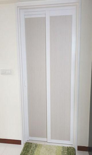 Slide Fold & Swing Toilet Door