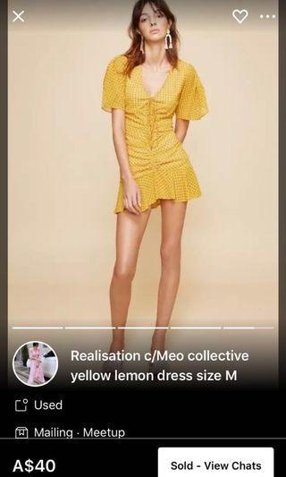 Relasation yellow dress size M