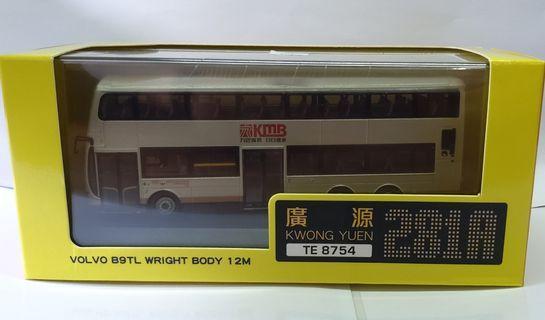 1:76 巴士模型 KMB Volvo B9LT Wright Body 12M 路線 281A