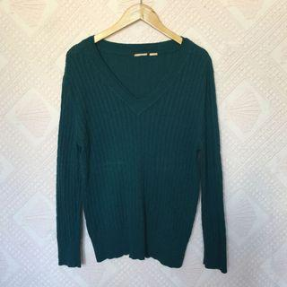 BLUEGREEN KNITTED SWEATER LARGE