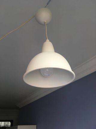 Used white dome shape light come with warm light LED bulb