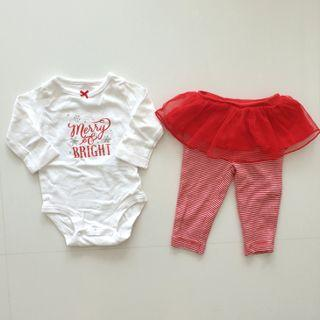 Carter's Christmas Girl 2-Piece Outfit 3mth