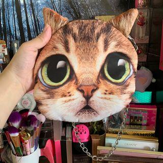 CUTE CAT HEAD HANDBAG