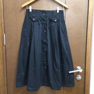Button Skirt Midi