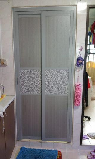 Slide Fold & Swing Toilet SK Door
