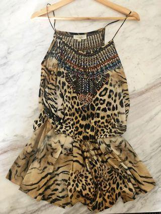 Camilla leopard animal print playsuit size 1