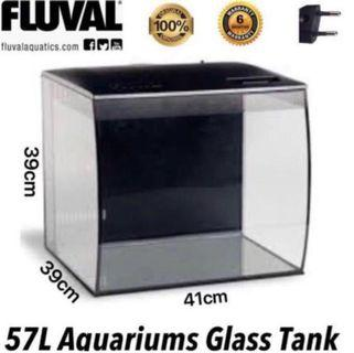 57L aquarium Glass tank with free delivery or sand or soil