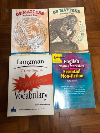 🚚 English textbooks. GP matters, long man o level vocabulary, English writing workshop