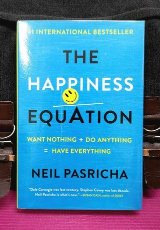 《BRAN-NEW HARDCOVER ! + How To Unlock The 9 Secrets To Happiness》Neil Pasricha - THE HAPINESS EQUATION.: Want Nothing + Do Anything = Have Everything