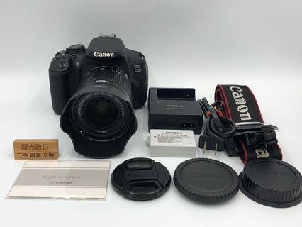 Canon 700D + 18-55 + Hood 單眼 DSLR 佳能 二手