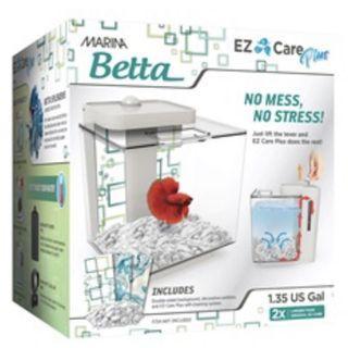 13336 - Marina Betta EZ Care Plus Aquarium Kit - White - 5 L (1.35 US gal)
