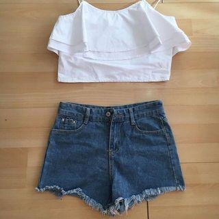 Embroidered hw shorts ✨