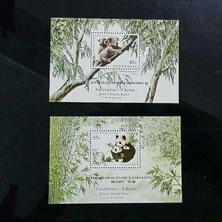 Panda And Koala Souvenir Sheets