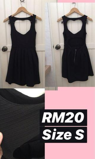 Black Heart Cut Out Dress
