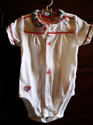 Chateau de Sable baby romper with Liberty print