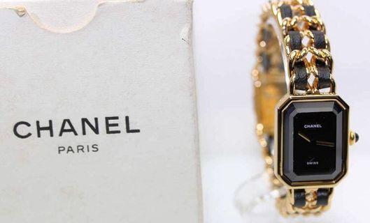 100%real 真品 CHANEL golden watch with Box 有日本二手店單
