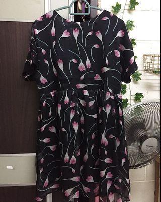 Babydoll Patterned Dress (Zalora SB)