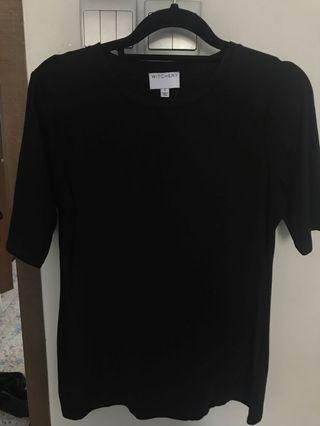 🚚 Witchery black cotton t-shirt for ladies