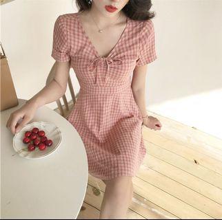 Plaid Lattice Dress 2 Colours