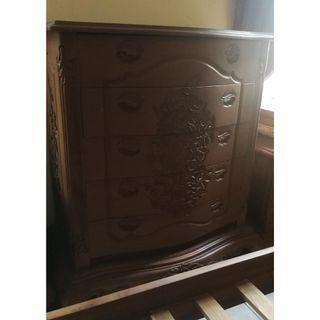 Teak Wood Drawer Cabinet