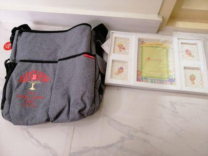Golden jubilee baby bag and photo frame