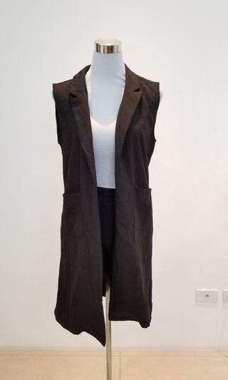 black blazer vest