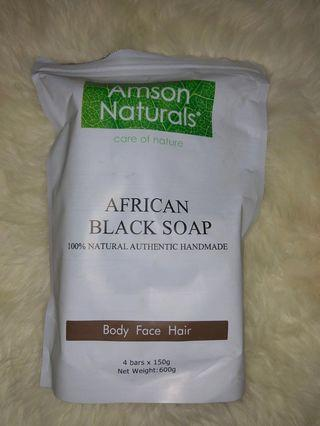 Natural authentic African black soap