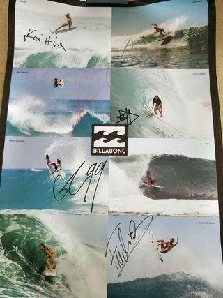 Autographed Billabong Surf Pro Poster #MRTBedok #EndgameYourExcess