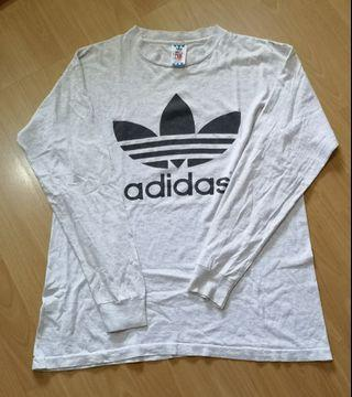 Adidas Logo Long Sleeve Shirt Vintage